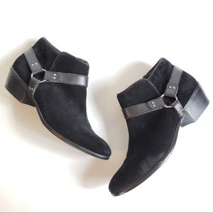 Sam Edelman Black Suede Harness Bootie